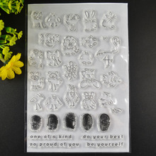 Finger face printing stamp TPR silicon clear Stamp rubber seal for DIY Scrapbooking/Card Making/ Decoration Supplies(China)