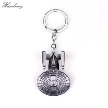 Buy Movie jewelry Star Trek Keychains Spacecraft Pendant Keyrings Key holder Star War Charms Key Chain Men Cosplay Party Gift for $1.27 in AliExpress store