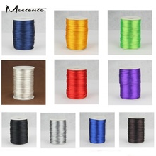 Meetcute 2mm*100m/Pack South Korea Rope String Thread Chinese Knot Wire For Bracelet Diy Jewelry Accessories Wholesale(China)