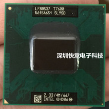 Free Shipping intel CPU laptop Core 2 Duo T7600 CPU SL9SD 4M Socket 479 Cache/2.33GHz/667 Dual-Core Laptop processor support 945(China)