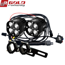 Goldrunway Designs 40X Sport auxiliary motorcycle fog lights lamp Universal LED Lighting Kit(China)