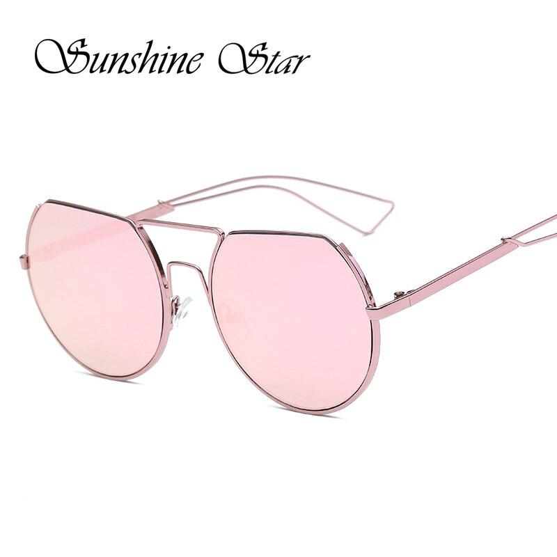 Sunshine Star Unique Semi-Rimless Sunglasses Women Fashion Half frame Female Sun Glasses Reflective Eyewear Oculos de sol 400UV<br><br>Aliexpress