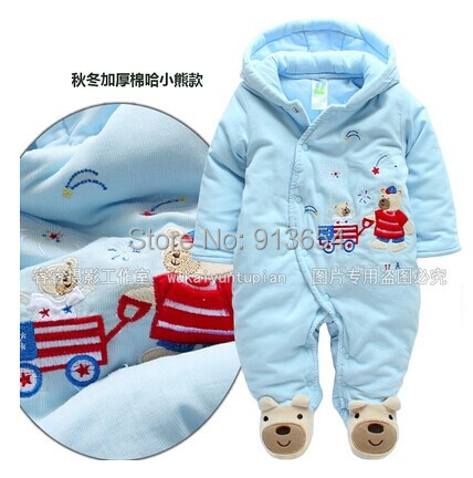 new 2016 autumn winter romper baby clothing newborn baby boy overall infant cotton rompers kids warm jumpsuit baby wear<br>