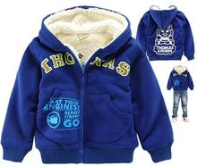 top quality children outerwear cartoon boys hooded jacket winter brand kids garment Wholesale and Retail