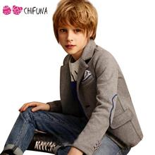 Good Quality Kids Blazer Boys Winter 2017 Fashion Boy Formal Blazers Jacket Boy Button Outerwear Suit Thick Blazer For Children(China)