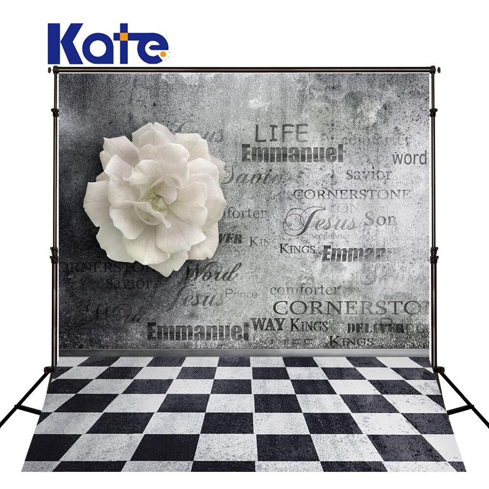 5Feet*6.5Feet Background Word Wall Flowers Photography Backdropsthick Cloth Photography Backdrop 3545 Lk<br>
