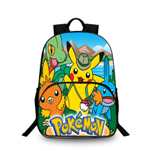BAOBEIKU Anime Pokemon 3D Backpacks Character Fashion Print Bags For Childrens School Laptop Kids Backpack Dropshipping