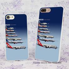All sizes Airbus Airplanes Comparison Design hard White Skin Case Cover for Apple iPhone 7 6 6s Plus SE 5c 5 5s 4 4s