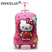 HOT!16 inches Variety of cartoon 3D extrusion EVA Luggage kids Climb stairs luggage suitcase Travel cartoon child trolley case(China)