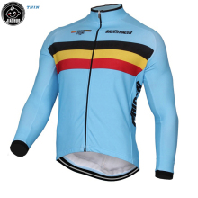 New 2017 Classical Belgium Belgian Winter Polar or Thin Clothing Cycling Jersey / Cycle Clothing wear long sleeve fleece jerseys