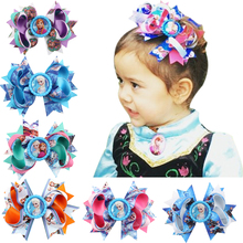 Cartoon characters Big Bow Ribbon Wraped clip barrettes Children infant hairpins Hair Accessories