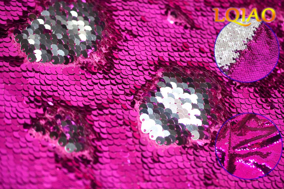 fuchsia silver reversible sequin New Color Card