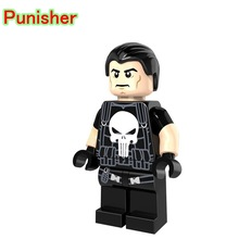 Punisher Mini Dolls Single Sale Super Heroes Anti-hero The Amazing Spider-Man Building Blocks Toys For Children PG230