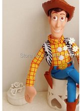 45cm Toy Story WOODY Action Woody Toy figure PP Cotton Plush Model Toys For Children Christmas Gift Free Shipping(China)