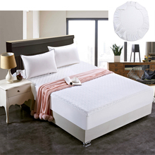 Eco Friendly Cotton Padded Mattress Cover Antibacterial Twin Full Queen King Size Bed Cover for Bedroom Decoration(China)