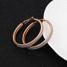 2017 The new Korean version of the trend of European and American big rock and roll exaggerated scrub ring earrings jewelry(China)