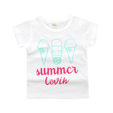 2017 New fashion Eyelashes & Lips Kid's Graphic Tee Girls Cotton T-shirt Child Summer Tops MCT004