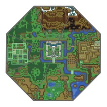 Custom The Legend of Zelda Village of Outcasts Map Umbrellas Creative Design High Quality Foldable Rain Umbrella