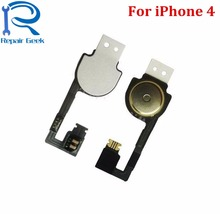 5pcs/Lot New High Quality Home Button Flex Cable For iPhone 4 4G Replacement Part Accessories Ribbon Flex Cable Free Shipping(China)