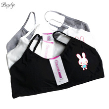 Rabbit Bras for Girls Chest Pad Removable Young Girl Bra Training Underwear Sports Bras for Kids Teen Girls Wireless Puberty Bra