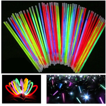 50pcs/lot Christmas Party Concert Supplies Fluorescent Bracelets Glow Sticks Wedding Party Decoration Night Light Sticks(China)