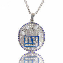 New Arrival Sport Jewelry 2012 NY Giants Championship Pendant Sliver Necklace For Men Necklaces as Best Gifts(China)