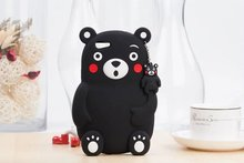 3D Lovely Cute Cartoon Bear Soft Silicone Shockproof Phone Cover Case For OPPO Neo 5 A31/ Neo 7 A33 / A53 / F1S A59 / A39 A57(China)