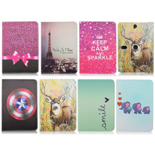 For Ainol Novo7 rainbow/ Note 7 flame/Navo7 venus Printed 360 Rotating PU Leather case cover Universal 7.0 inch Tablet Y4A92D(China)
