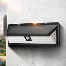 54 LED Solar Light Outdoor Garden PIR Motion Sensor Solar Powered LED Wall Light Waterproof Security Pathway Wall Lamp