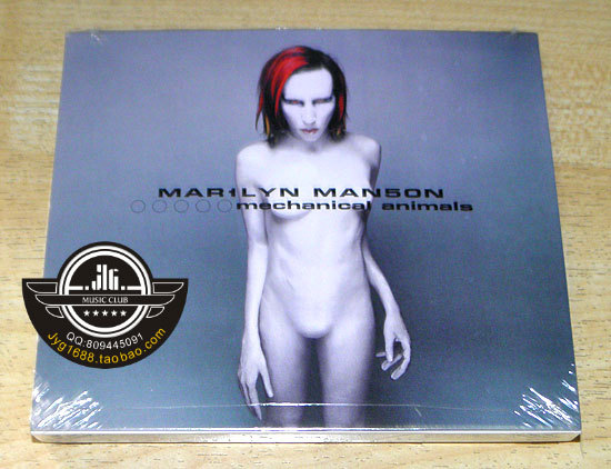 Free shipping; Marilyn Manson Mechanical Animals CD US version; sealed<br><br>Aliexpress