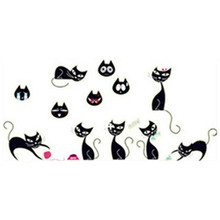 Cute black Cat luminous stickers cartoon Animal fluorescent decals kids bedroom wall decoration vinyl wallpaper glow in the dark(China)