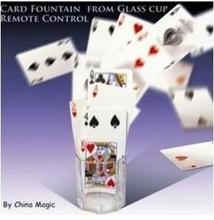 Free Shipping! Card Fountain From Glass Cup Remote Control - Trick,Stage,Close Up magic props, Accessories,Comedy,Coin,card(China)