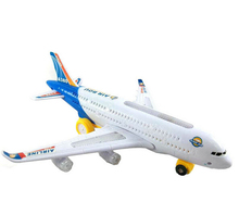 A380 Air Bus Airline Bump & Go Airplane Flashing Sound Moving Light Music Toy Plane(China)