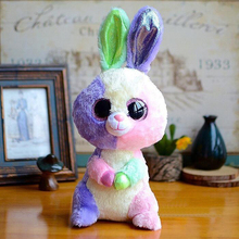 15CM TY Beanie Boos Big Eyes Easter Bunny Plush Dolls Stuffed Toys For Children Gifts(China)