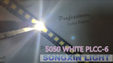 100pcs 5050 White SMD/SMT 3-CHIPS LED PLCC-6 Super Bright lamp light High quality 5050 SMD LED COOL WHITE