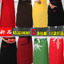 2017 Real Chef Uniform Chef Uniform Sale New Cotton Polyester Men Aprons Broadcloth Half Apron And Hotel Restaurant Work Style