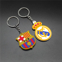 2016 New Popular Europe Color Pendant Keychain Exclusive Men And Women Football Team Logo Lovers Key Chains Alloy Key Ring