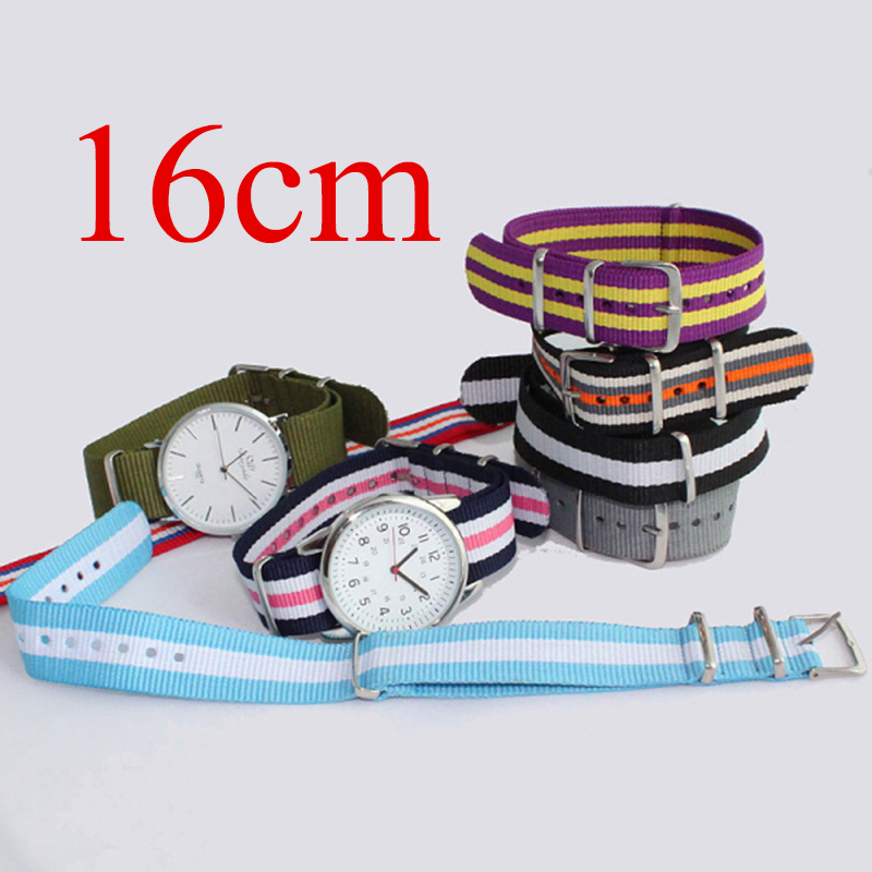 16mm NATO Straps Colorful Durable New fashion Nylon Fabric Watchbands Buckles Unisex Girls Boys Man Women Wristband Belts<br><br>Aliexpress