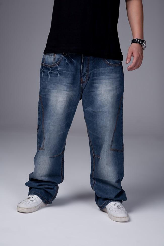Mens Hiphop Loose Fit Baggy Jeans 2017 New Arrivals Wide Leg Denim Pants Free ShippingÎäåæäà è àêñåññóàðû<br><br>