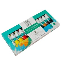 Best Price 12 Colors One Set 12ml Paint Tubes Draw Painting Acrylic Colour Set  nail  art  Fit For Paintbrush School Supply