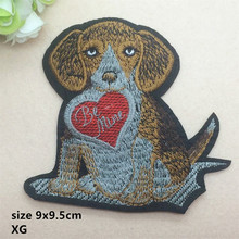 CPAM Shipping new arrival 10 pcs Dog and Be Mine Embroidered patch XG Motif Applique DIY embroidery patch accessory