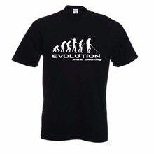 2018 New Fashion Brand Clothing Metal Detector Evolution T Shirt Funny Tee Shirt Darwin Theory Hobby Retro Tee Shirts