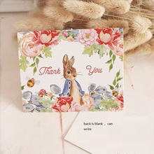 50pcs Mini thanks Card Peter Rabbit style leave message cards Lucky Love valentine Christmas Party Invitation Letter(China)