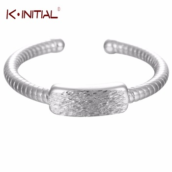 Kinitial 1Pcs 925 Silver Geometric Square Rings for Woman Weddings Twist Ring Jewelry Rectangular Finger Rings Drop Shipping