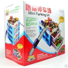 Mini Parking Lot AOLI 10729 kids toy Toy car storage box car park Scenario simulation gift Drawer Alloy car collection Fitting