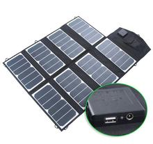 52W Semi-flexible USB DC Port Portable Foldable Outdoor Solar Panel Charger for iPhone, iPad, iPod, Samsung, Camera, and More(China)