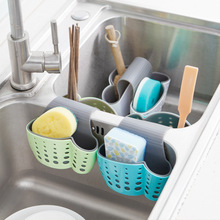 Kitchen Hanging sink Drain Basket Storage Drain Bag Cleaning Brush Toothbrush Holder Soap Sponge Drain Rack Sucker Storage Tool(China)
