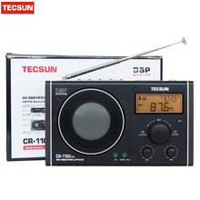 TECSUN CR-1100 Radio AM FM MW Radio Multiband Radio Receiver Portable Audio Radio Digital Clock Display Stereo Radio Hot Sale
