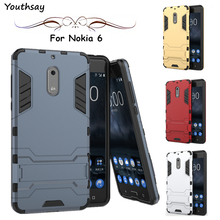 sFor Cover Nokia 6 Case Youthsay Protective Robot Rubber Armor Hard Back Phone Case For Nokia 6 Cover For Nokia Lumia 6 Case(China)