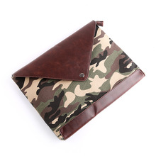 2016 new Korean male package camouflage bag leisure bag envelope iPad briefcase(China)
